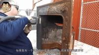 生锈多年的壁炉, 被环保激光除锈后, 完全变了个样