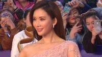 现场:林志玲裸色斜肩裙仙气飘飘 与粉丝亲切握手