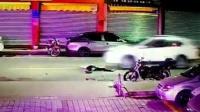醉酒男躺倒路中央 惨被轿车疾速碾压身亡