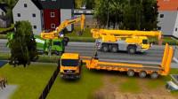【永哥】挖掘机城市模拟建设203挖掘机搅拌机自卸车装载机平板运输车
