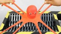 把橡皮章鱼扔到碎纸机里, 会发生什么事?