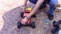 模型赛车, 装上烧油的小发动机, 这启动动力杠杠的