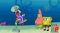 章鱼哥也养了一只蜗牛, 但是却不让它和海绵宝宝的蜗牛玩, 太过分了