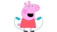 小猪佩奇玩跳绳儿童简笔画