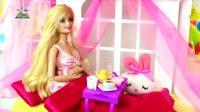 芭比娃娃和长发公主买新衣服真漂亮