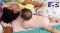6个月宝宝早醒叫老爸一块起床, 这举动把妈妈笑翻了!