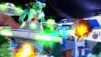 【时空小涵】Roblox外星人模拟器 乐高总动员乘坐迷你UFO2.0超级激光摧毁虚拟世界 爆笑单机游戏视频