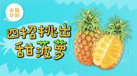 学会这4招, 挑出来的菠萝个个可口不酸涩