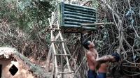 野外徒手用竹子建造淋浴头, 户外生存也要注意个人卫生