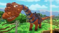 【肉肉】方块方舟恐龙我的世界游戏28#超级大雷龙!