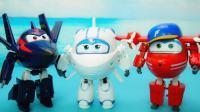 超级飞侠变形玩具 4款大号配角变形机器人