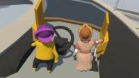 【鹿子魔哒小泡】爆笑闯关人类一败涂地女司机开车挖煤被扔出去 搞笑小游戏