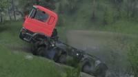 旋转轮胎  这么多高难度山坡, 看卡车表现怎么样