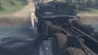 旋转轮胎 这么长的卡车, 转弯才是展现技术的时候