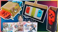 任天堂游戏机 labo 拆纸盒子组装过程 手柄控制 折纸机器人虫子 日本游戏机 雪晴姐姐
