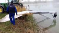 用拖拉机就能把水塘里的水抽出来灌溉, 看不懂这设备什么原理
