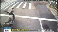 男子騎摩托別停公交車近20分鐘 手拿磚頭謾罵司機