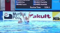 017布达佩斯游泳世锦赛花样游泳女子自由自选组合决赛片段之61