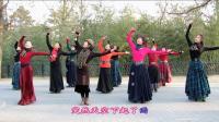 紫竹院广场舞——心上的罗加(带歌词字幕), 优美大气, 跳的真好!