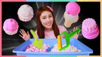 用炫彩黏土散沙玩具DIY梦幻甜品 | 凯利和玩具朋友们 CarrieAndToys