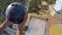 遇强则强的非牛顿流体, 保龄球从45米砸下来, 能否打破传言?