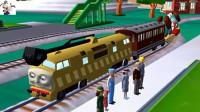 【永哥】托马斯和他的朋友们212 托马斯和提赛尔史 火车游戏