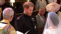 现场: 哈里王子与梅根高甜完婚