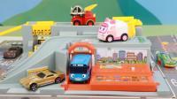多美卡发声街景玩具学习警车消防车救护车公交车声音