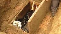 考古队挖古墓了挖了大半年, 进去后看到个难忘画面