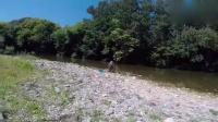 子都掉了, 这家伙在河边恶作剧收获可不小