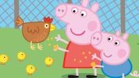 小猪佩奇 英文| 和小猪佩奇一起学英语 - 喂小鸡吃米 | 儿童动画