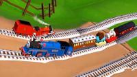 【永哥】托马斯和他的朋友们214 托马斯和贝尔、提赛尔史 火车游戏