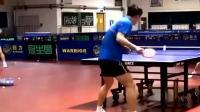 张继科马龙私下练球视频: 看的我眼花缭乱, 太精彩了!