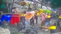实拍: 杭州小男孩6楼坠落 群众齐力接住