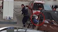 男子为查监控 竟加油站放火威胁工作人员