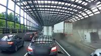 韩国高速17车连环撞 目击者称: 就像打保龄球