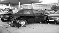 事故警世钟: 完了! 完了! 实线变道不说, 还把人家的车给撞的够呛345