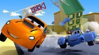 汽车城之警车和巡逻车 第42集 比赛