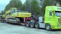 小松450挖掘机有多少吨? 有必要用重载拖车运输吗?
