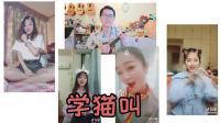 小潘潘、小峰峰[学猫叫]斗音热歌密密斟尤克里里原版弹唱教学