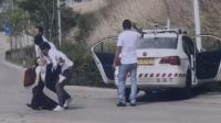 驾校男学员练车出事 致后座女子鼻梁撞断