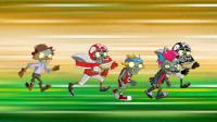 气球僵尸的50米赛跑-搞笑游戏动画