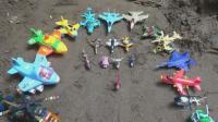 汽车挖掘机和飞机玩具试玩, 婴幼儿宝宝玩具游戏视频A525