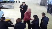 男子带刀过安检被查 暴力抗法: 带3万要防身