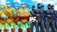 忍者神龟 与 机械战警 军队 Ninja Turtles VS RoboCop