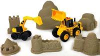 工程车寻找太空沙建筑里的玩具