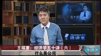 王福重经济学第六讲: 企业