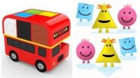 可爱小公交形状英语公交车玩具学儿童英语ABC少儿英语ABC