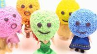 彩色泡沫笑脸里藏着可爱迪士尼公主! 教小朋友学颜色, 唱儿歌