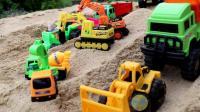 儿童玩具工程车大全 挖掘机 货车户外表演视频
